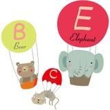Fallschirm und Tiere Stockbilder