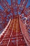 Fallschirmabsprung in Coney Island Lizenzfreies Stockbild