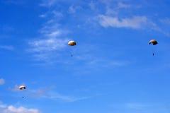 Fallskärmshoppare Arkivbilder
