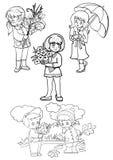 fallskola Stock Illustrationer