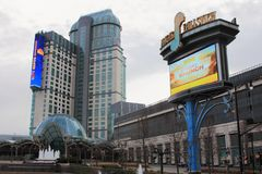 FALLSVIEW赌博娱乐场新的标志 库存图片