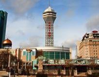 Fallsview kasino och semesterort Arkivbild