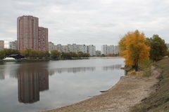 Falltime i Kyiv Arkivfoto