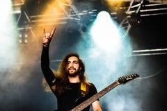Fallujah Hellfest 2016 metallmusikband royaltyfri foto