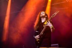 Fallujah Hellfest 2016 metallmusikband royaltyfria bilder