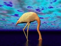 Falmingo kan inte se eller höra - 3D framföra Royaltyfri Foto