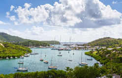 Falmouth bay. View from Shirely Heights, Antigua, West Indies Royalty Free Stock Images