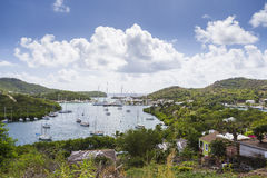 Falmouth bay. View from Shirely Heights, Antigua, West Indies Stock Images
