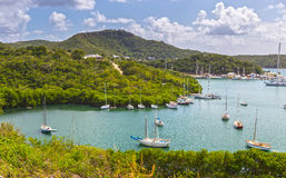 Falmouth bay. View from Shirely Heights, Antigua, West Indies Royalty Free Stock Photos