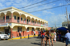 Falmouth downtown, Jamaica Royalty Free Stock Image