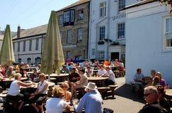 Falmouth, Engeland: De Kade van het Douanekantoor Stock Afbeeldingen