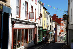 Falmouth, Engeland: De Winkels van de Straat van de prins Stock Fotografie