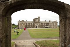 United Kingdom. Falmouth England, UK - August 15, 2015: A view of Pendennis castle and park, Falmouth, Cornwall, England, United Kingdom royalty free stock photos