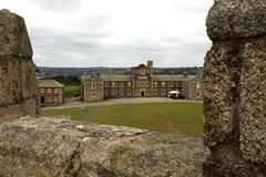 United Kingdom. Falmouth England, UK - August 15, 2015: A view of Pendennis castle and park, Falmouth, Cornwall, England, United Kingdom royalty free stock photo