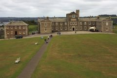 United Kingdom. Falmouth England, UK - August 15, 2015: A view of Pendennis castle and park, Falmouth, Cornwall, England, United Kingdom stock photo
