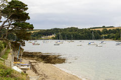 Falmouth fiord at St. Mawes, Cornwall Royalty Free Stock Image