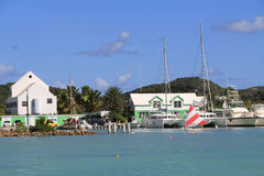 Falmouth Harbour Marina Antigua Barbuda Royalty Free Stock Photos