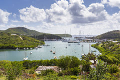 Falmouth harbour. View from Shirely Heights, Antigua, West Indie Stock Photos