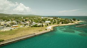 Falmouth in Jamaica. The caribbeans Stock Photos