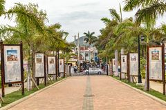 Jamaican culture and history displays at Falmouth Cruise Port royalty free stock photos