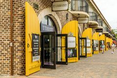Tanzanite International store inside the Falmouth Cruise Port royalty free stock image