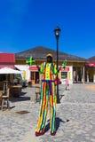 Falmouth Jamaica - Maj 02, 2018: Folket som går på port Royaltyfria Bilder