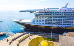 Falmouth, Jamaica - May 02, 2018: Cruise ship Disney Fantasy by Disney Cruise Line docked in Falmouth, Jamaica. On May 02, 2018 stock image