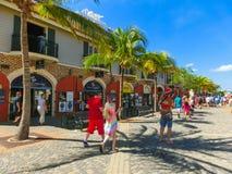 Falmouth Jamajka, Maj, - 02, 2018: Ludzie iść przy portem Obraz Royalty Free