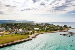 Falmouth port i den Jamaica ön, Caribbeansen Arkivfoto