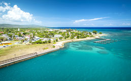 Falmouth port in Jamaica Stock Image
