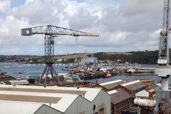 Falmouth skeppsdockor, UK. arkivfoto