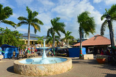 Falmouth Water Square, Jamaica. Falmouth Water Square is the busy hub of Falmouth, Jamaica Royalty Free Stock Images