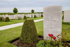 Flanders fields. Cemetery in flanders fields, 1914-1918 Royalty Free Stock Photo