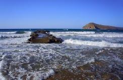 Falochron na plaży Obraz Stock