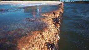 Falochron na wybrzeżu Kuba zdjęcie wideo