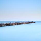 falochronu ujścia jetty rzeki seascape Zdjęcia Stock