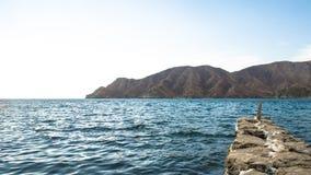 Falochrony w Playaca plaży Obraz Royalty Free