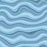 Falowa 3D bezszwowa tekstura royalty ilustracja