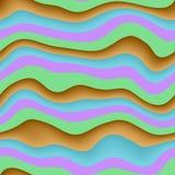 Falowa 3D bezszwowa tekstura ilustracja wektor
