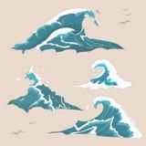Falowa ocean kolekcja royalty ilustracja
