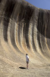Falowa skała - zachodnia australia Obrazy Royalty Free