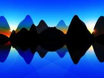 Falowa Wyspa Fotografia Stock