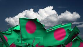 Falowania Bangladesz flagi ilustracji