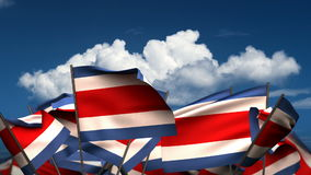 Falowania Costa Rican flaga ilustracja wektor