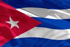 Falowania Kuba flaga dla używać jako tekstura lub tło flaga jest trzepotliwa na wiatrze obraz royalty free