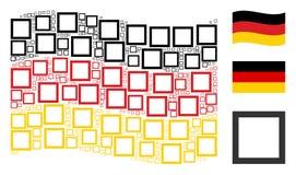 Falowania Niemcy flaga wzór konturu kwadrata rzeczy Obraz Royalty Free