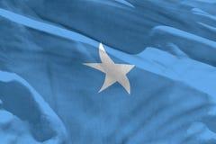 Falowania Somalia flaga dla używać jako tekstura lub tło flaga jest trzepotliwa na wiatrze zdjęcie royalty free