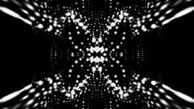 Falowanie cząsteczki w abstrakt przestrzeni, komputer wytwarzający 3d odpłacają się tło jak terenu lub ciecza powierzchnia ilustracji