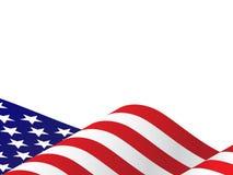 Falowanie usa flaga Wektorowa ilustracja dla 4th Lipiec, dzień niepodległości dzień lub prezydent, royalty ilustracja