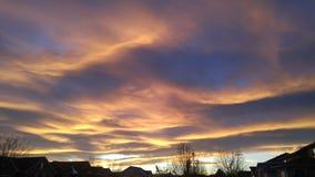 Falowe chmury Zdjęcie Royalty Free
